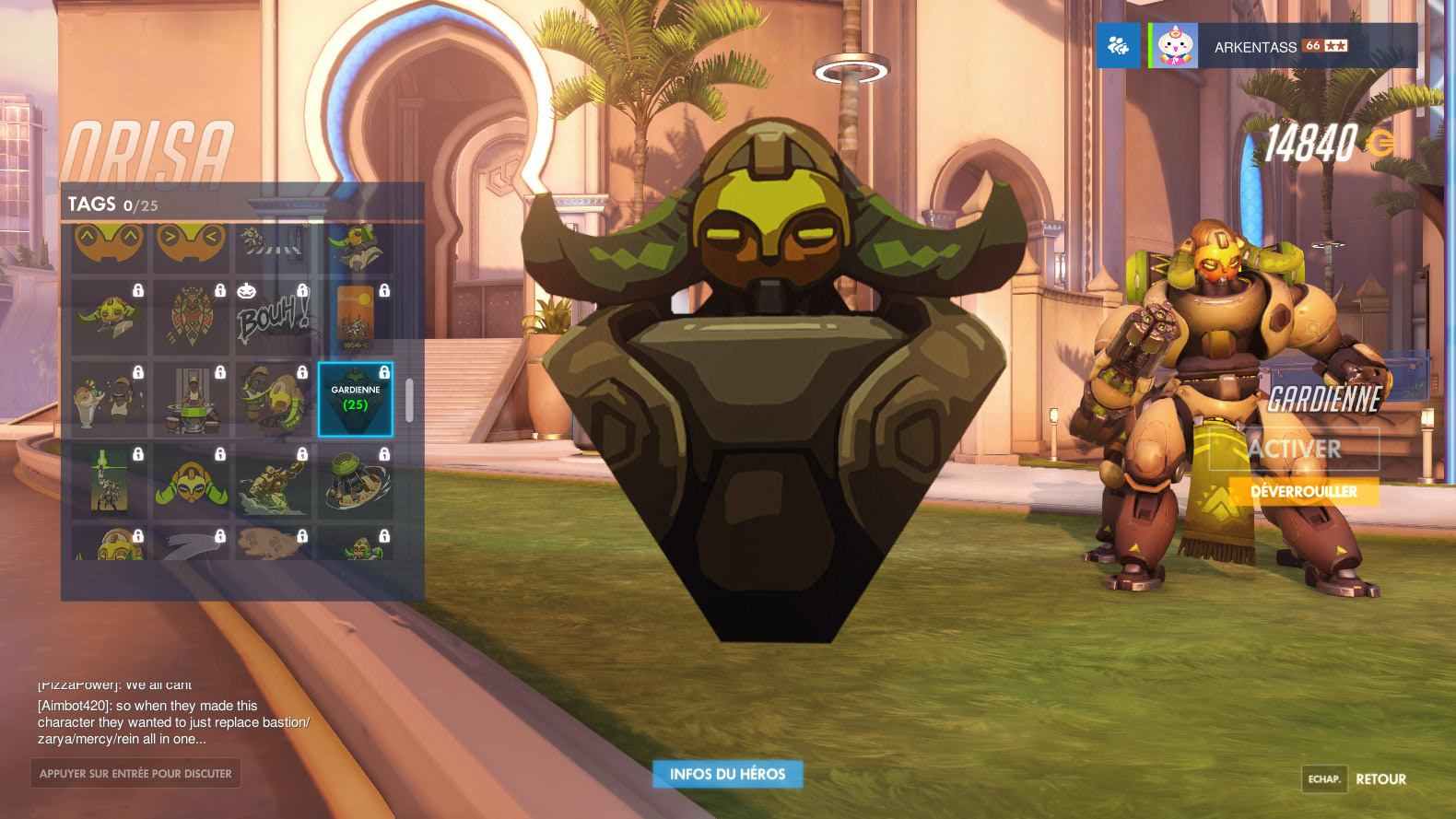 PTR 1.9 Overwatch : Tags d'Orisa