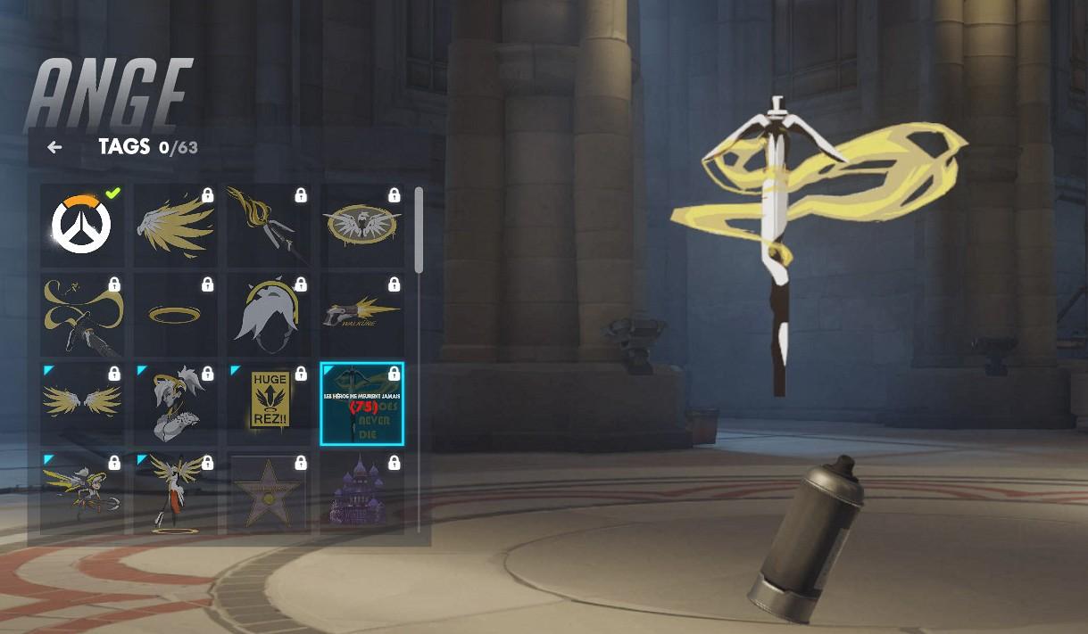 Tag spécifique à Ange sur Overwatch.