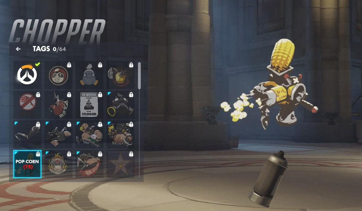 Tag spécifique à Chopper sur Overwatch.