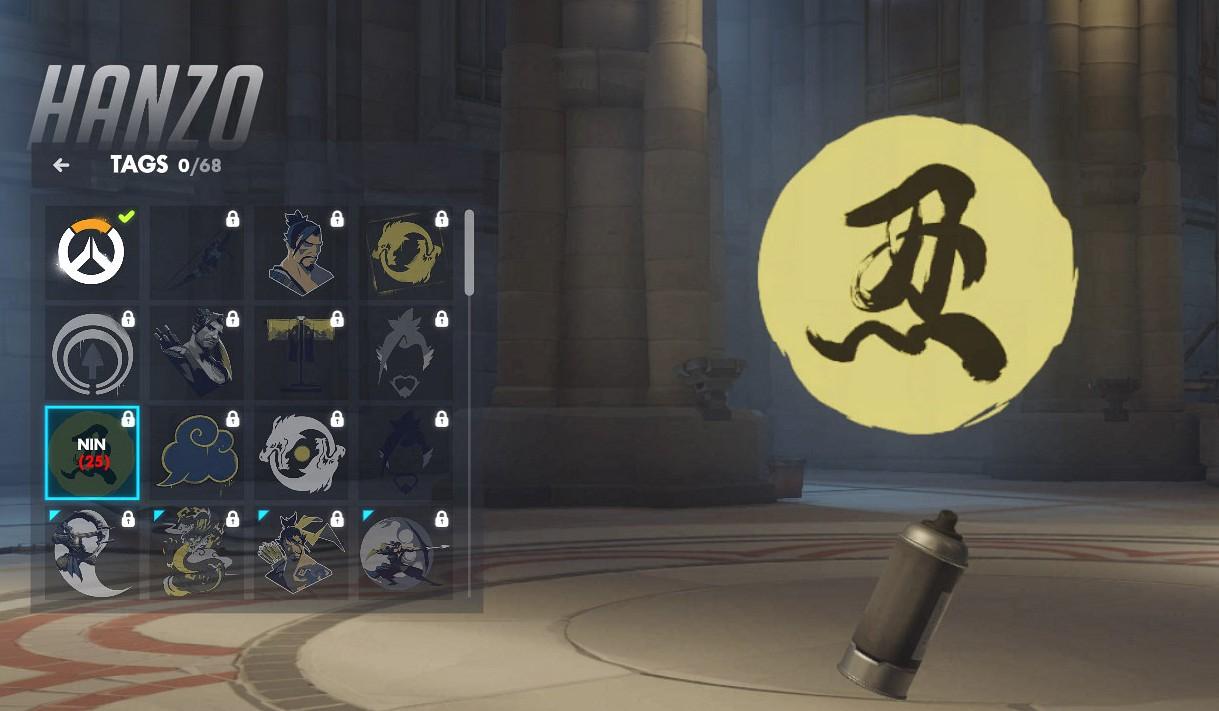 Tag spécifique à Hanzo sur Overwatch.