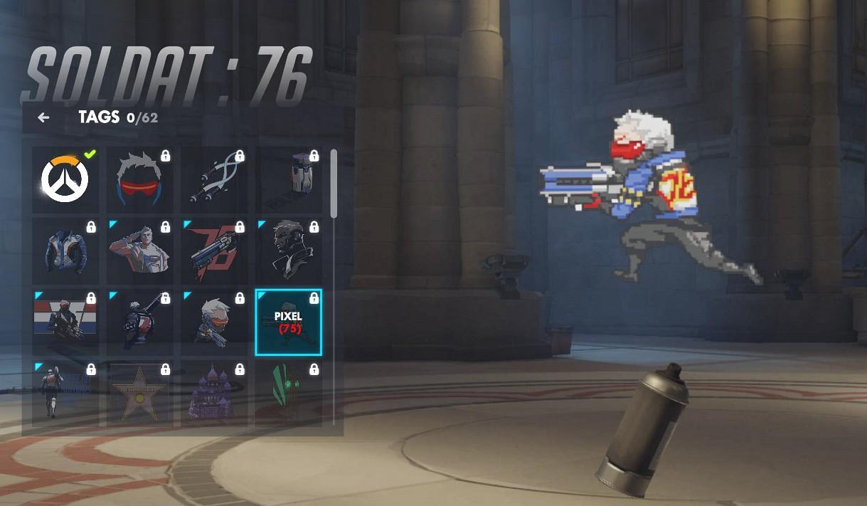 Tag spécifique à Soldat 76 sur Overwatch.
