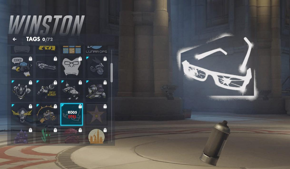 Tag spécifique à Winston sur Overwatch.