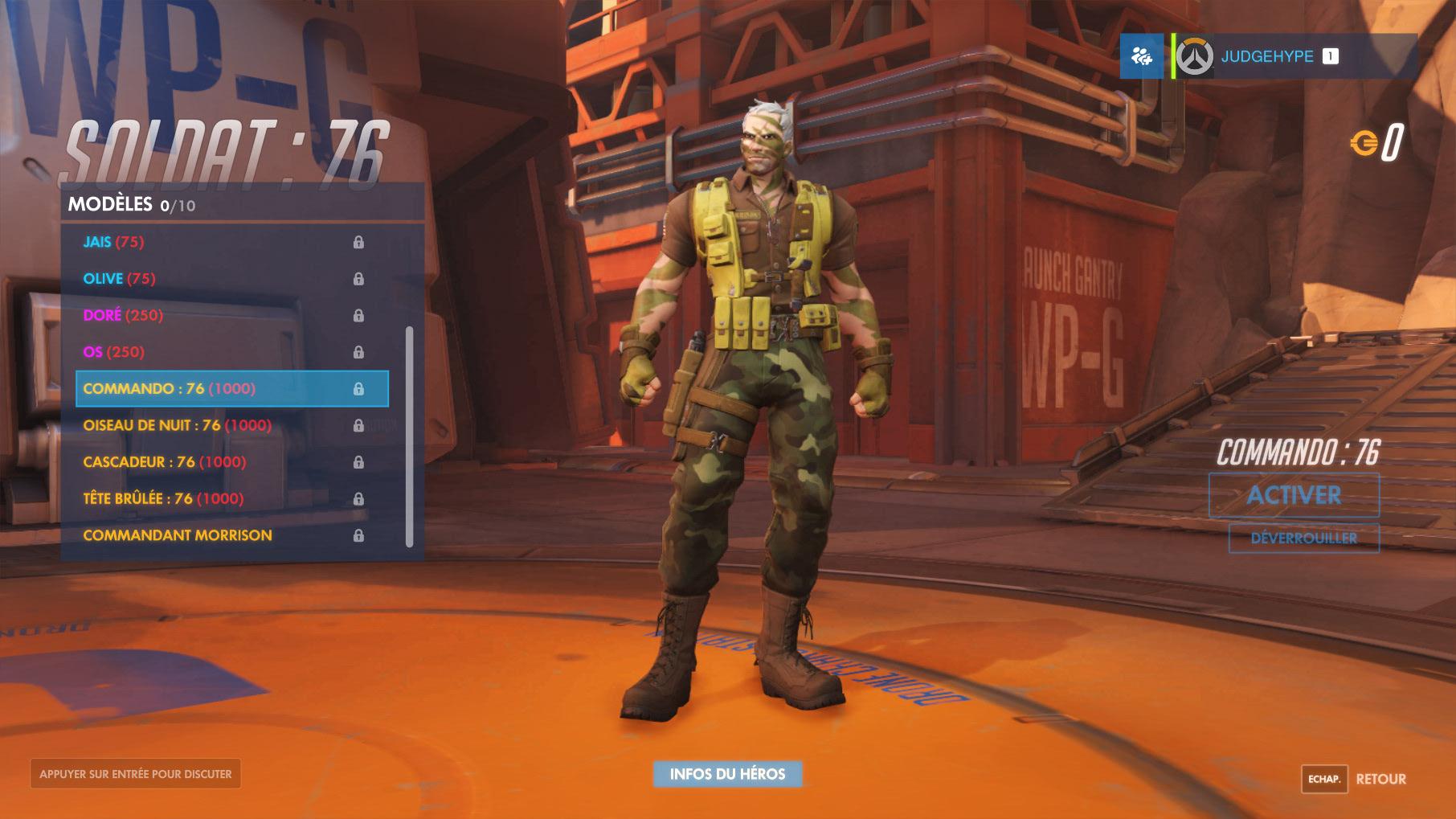 Apparence de Soldat 76 dans Overwatch.
