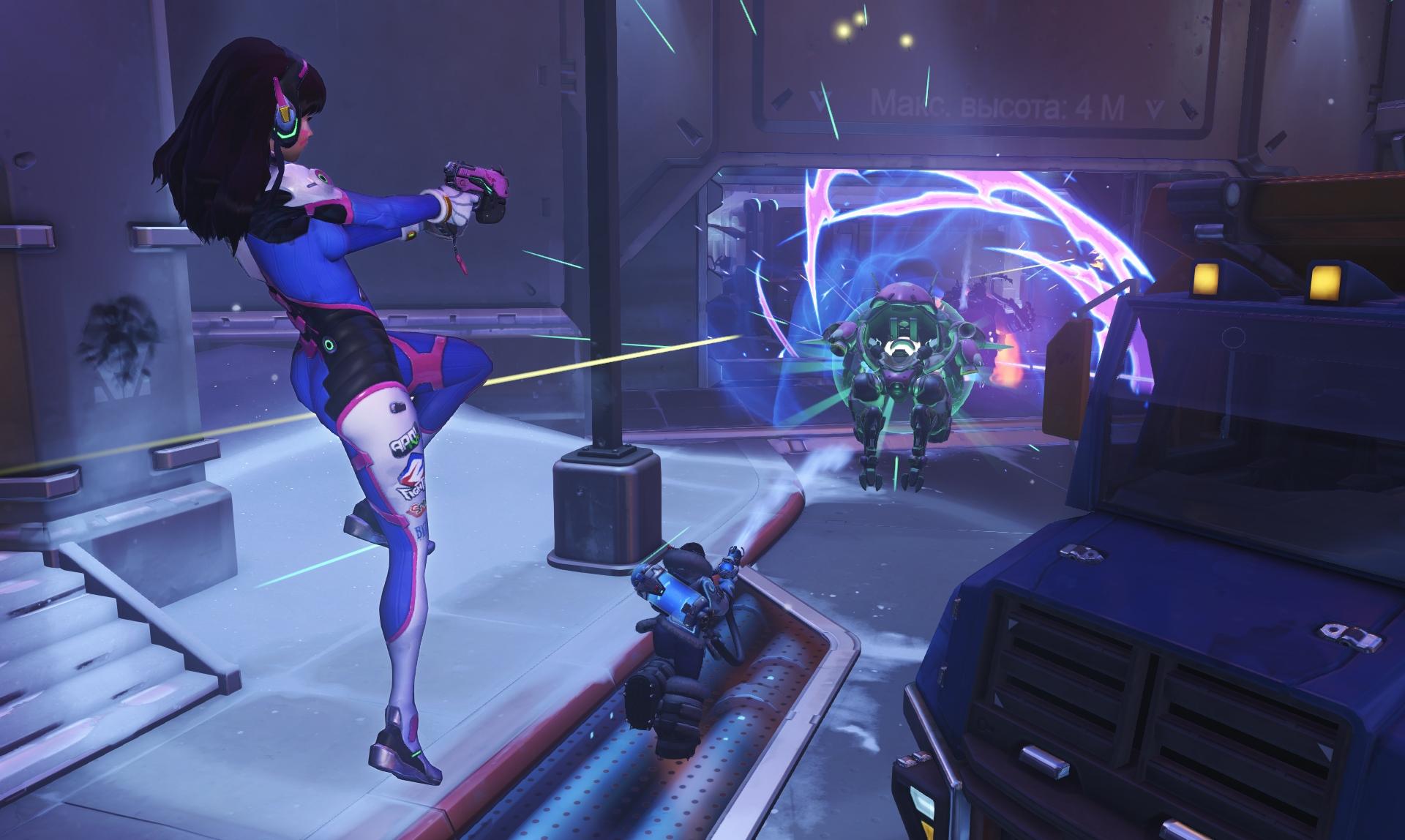 Screenshot de D.Va dans Overwatch.