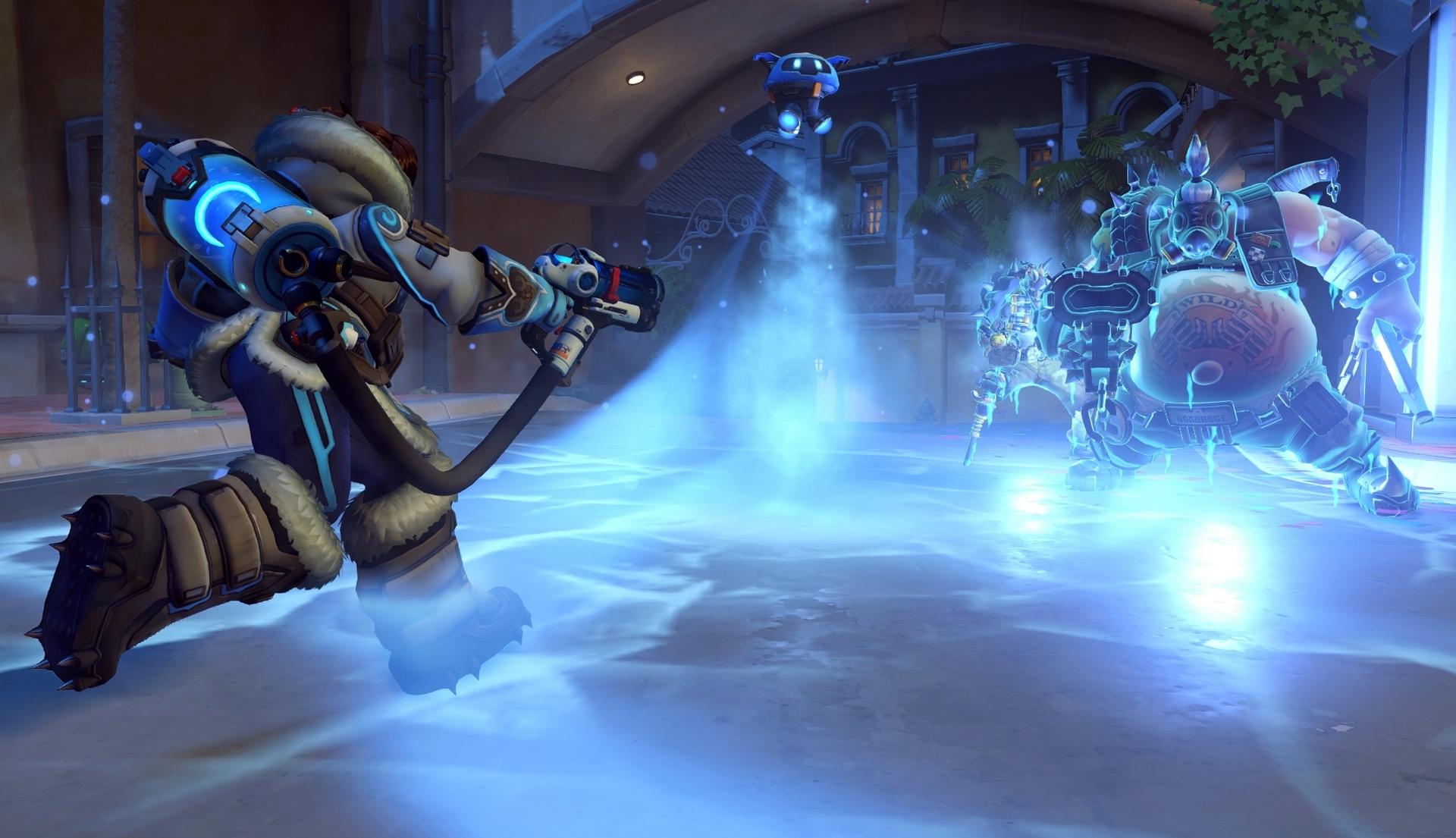 Screenshot de Mei dans Overwatch.