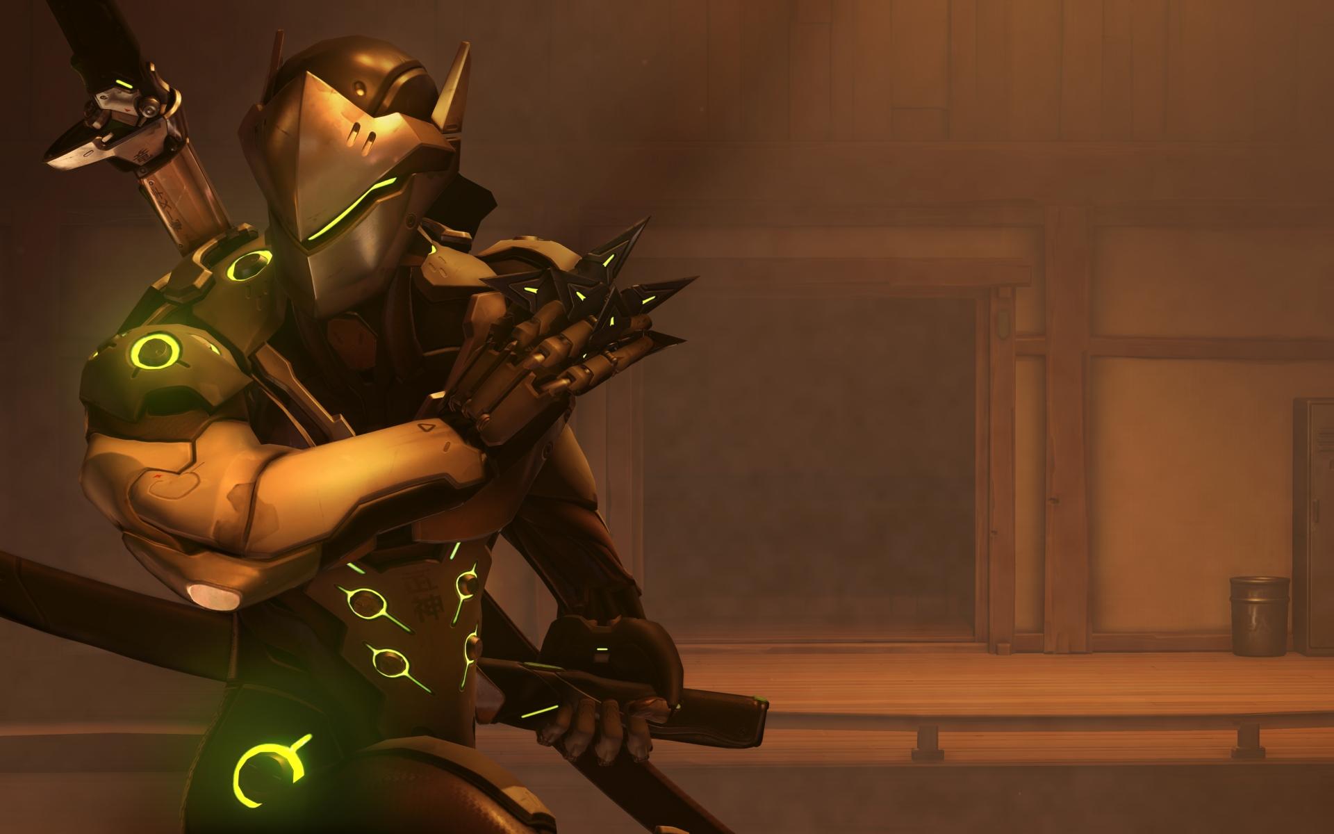 Screenshot de Genji dans Overwatch.