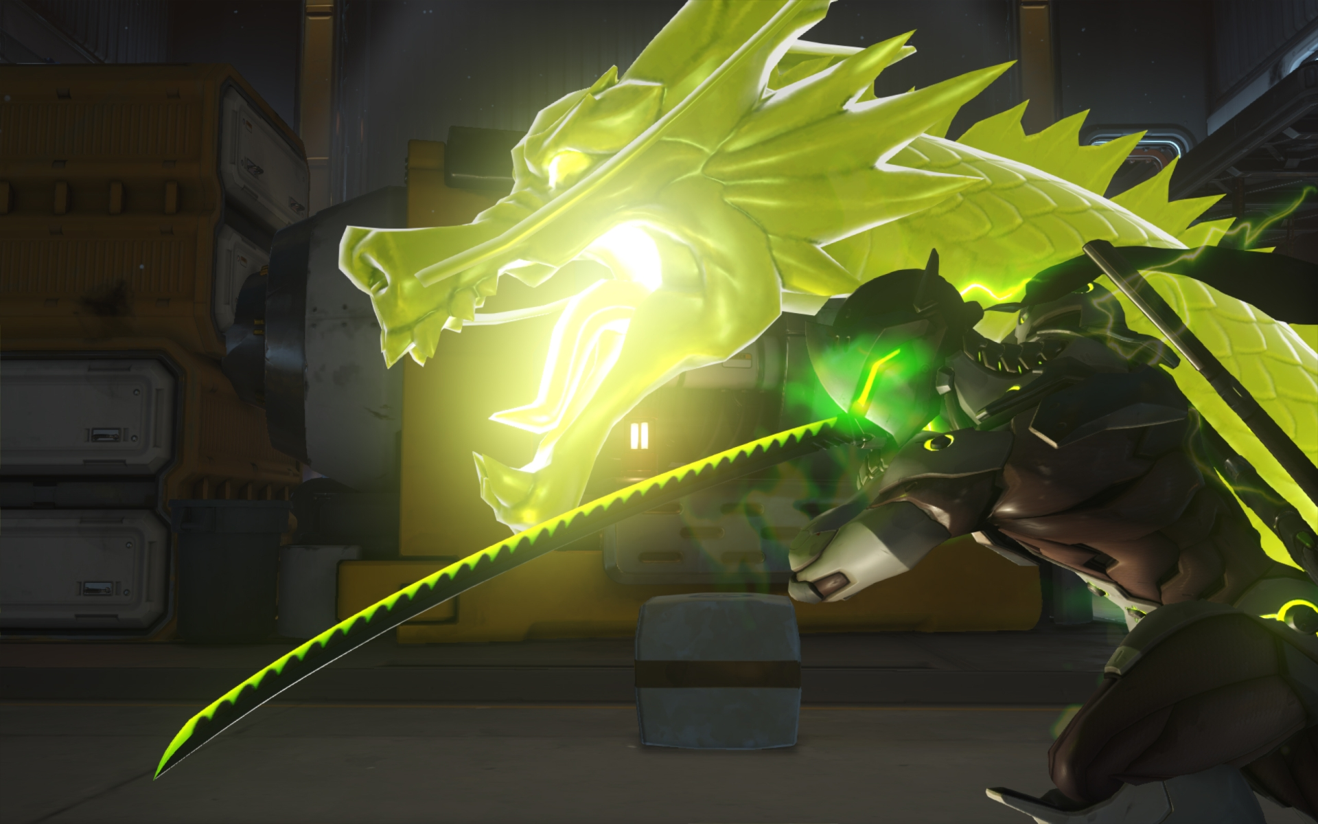 Screenshot de Genji dans Overwatch.